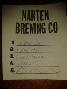 Marten's list